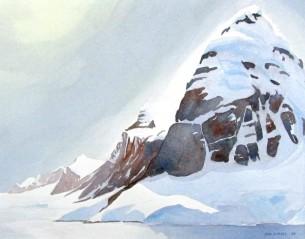 Lemaire Channel, Antarctica Watercolour Sold