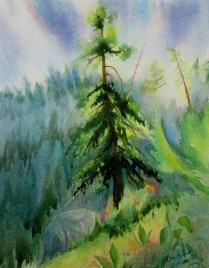 Morning on the Sunshine Coast,BC. Watercolor, Available for sale.