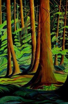 Cedar Grove, Sunshine Coast,BC. Watercolor, Sold