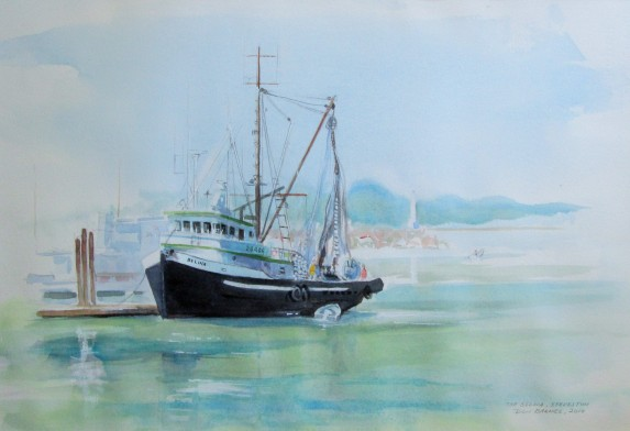 The Belina, Steveston, BC. Watercolor, Sold