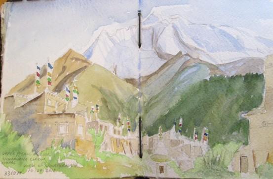 Upper Pisang Village, Annapurna Circuit, Nepal