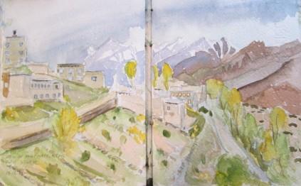 View of Mukinath, Nepal