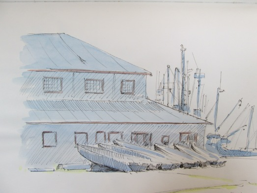 Steveston dock sketch