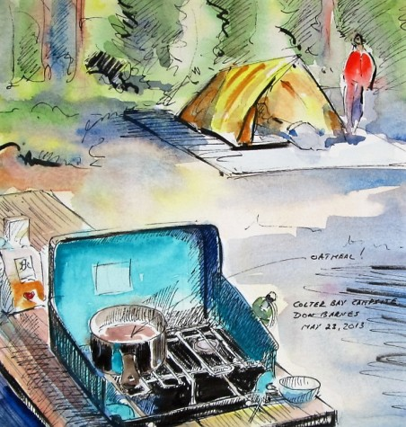 Breakfast at Colter Bay Campsite