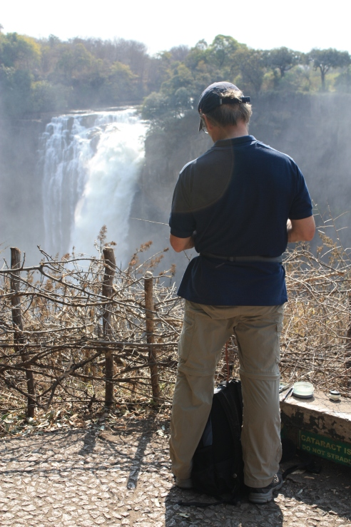 Sketching The Devil's Cataract at Victoria Falls