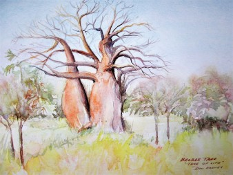 """""""The Tree of Life"""" Watercolor and Pencil Sketch"""