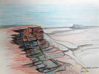 Sketch of Fish River Canyon,