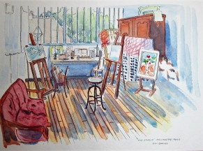 Suzanne Valadon's Studio in Montmartre. She was an artist and also modeled for Toulouse- Lautrec and Renoir.