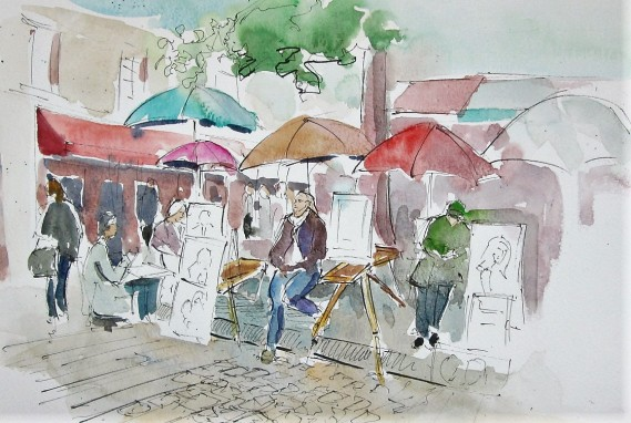 The Artist Market is in Montmartre at Place du Tertre.