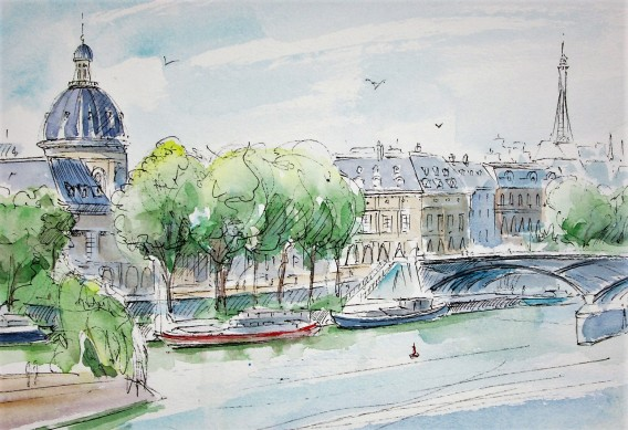 View of the Latin Quarter, from the Pont Neuf, Paris